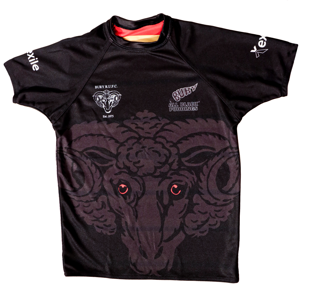 Playing Top Home Strip | Bury Rugby Club | Black Puddings | Front