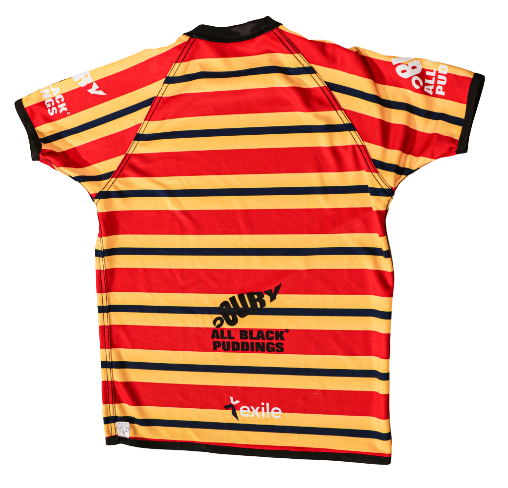 Playing Top Away Strip | Bury Rugby Club | Black Puddings | Back