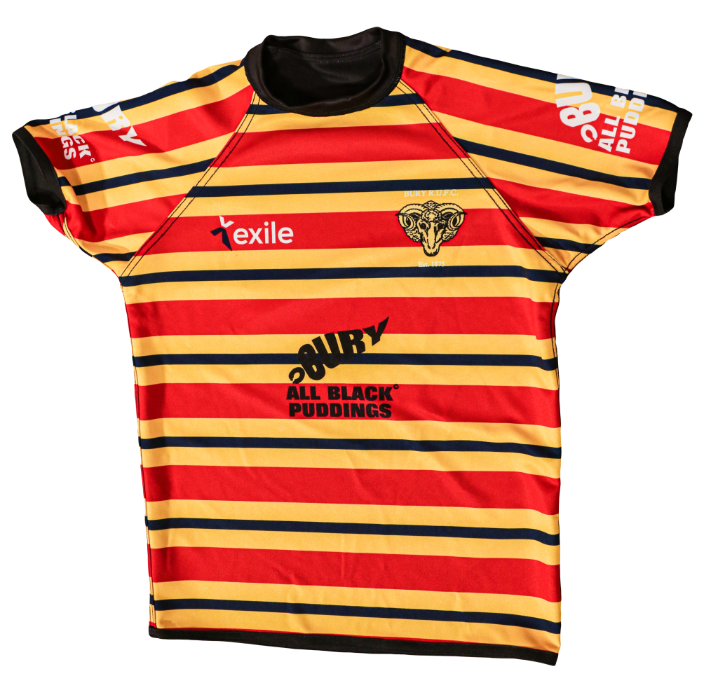 Playing Top Away Strip | Bury Rugby Club | Black Puddings | Front