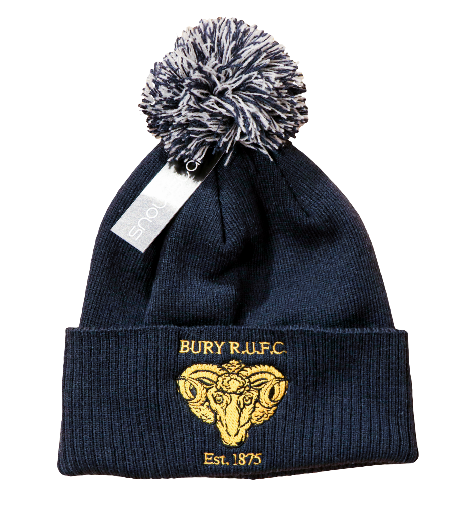 Winter Bobble Hat Bury Rugby Club